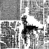 Conjunto sucio del vector del fondo Fotos de archivo libres de regalías