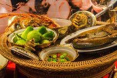 Conjunto tailandés del alimento Imágenes de archivo libres de regalías