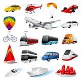 Conjunto: transporte stock de ilustración