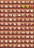 Sistema turístico del icono de las ubicaciones Imagenes de archivo