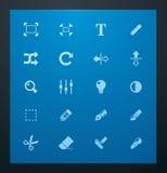 Conjunto universal de la foto de los glyphs 3. Fotos de archivo