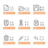 Conjunto universal del icono del software. Pieza de Standart Imagen de archivo