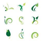 Conjunto verde de la insignia Fotografía de archivo
