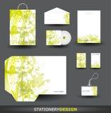Conjunto verde del diseño del papel Imagen de archivo