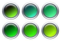 Conjunto verde del icono Fotografía de archivo