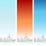 Conjunto vertical de la bandera de Chicago Fotografía de archivo