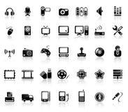 Conjunto video y audio del icono Imágenes de archivo libres de regalías