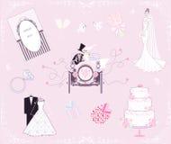 Conjunto Wedding Imagen de archivo libre de regalías