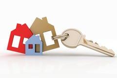 Conjunto y clave de símbolo de la casa Imagen de archivo