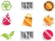 Conjunto y elementos del icono de las compras del vector. Parte 6 ilustración del vector