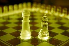 Conjuntos de ajedrez Foto de archivo libre de regalías