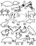 Conjuntos de animales Imagen de archivo