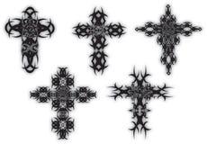 Conjuntos de la cruz Fotografía de archivo libre de regalías