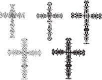Conjuntos de la cruz Foto de archivo