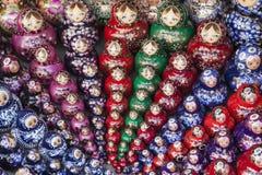 Conjuntos de las muñecas rusas Fotos de archivo