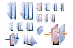 Conjuntos de los vidrios Imagen de archivo