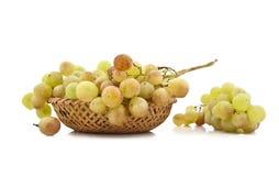 Conjuntos de uvas maduros suculentos Imagem de Stock