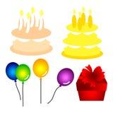 Conjuntos del cumpleaños stock de ilustración