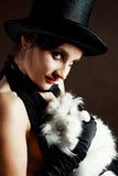Conjurer with a rabbit Royalty Free Stock Photos