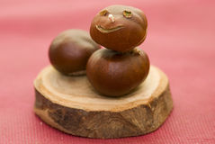 Conkers figure Royalty Free Stock Photos