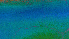 Conkrete surfage 色的背景 设计纹理 蓝色和绿色 照亮 库存图片
