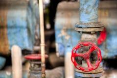 Красный клапан в conlonial фабрике стиля Стоковые Фото