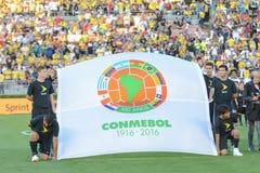 Conmebol flaga podczas Copa Ameryka Centenario Obraz Stock