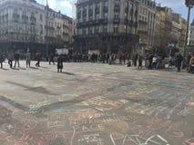 Conmemoración de los ataques en Bruselas Imagen de archivo libre de regalías