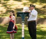 Conmemoración de Memorial Day de la pequeña ciudad Imágenes de archivo libres de regalías
