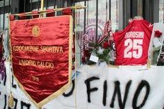Conmemoración Morosini del balompié de Livorno Imagen de archivo