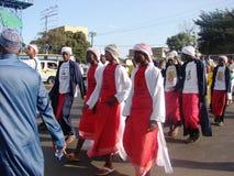 Conmemorar al profeta, celebración de la O.N.U Nabbi de Milad Imagen de archivo libre de regalías