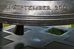 Conmemorative bell for the 9/11 Stock Photography