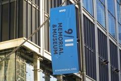 9-11 conmemorativo y museo en el punto cero en Manhattan MANHATTAN - NUEVA YORK - 1 de abril de 2017 Foto de archivo
