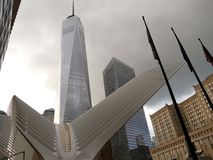 911 conmemorativo y un World Trade Center Fotos de archivo libres de regalías