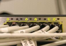 Conmutación de la red Foto de archivo