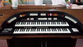 Conn organ - close-up of manuals/keys Royalty Free Stock Photos