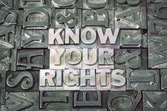 Connaissez vos droites rencontrées image libre de droits