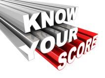 Connaissez votre score Images libres de droits