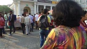 Connaught θέση - Νέο Δελχί απόθεμα βίντεο