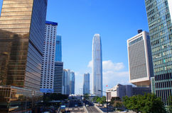 Connaught Road Central of Hong Kong Stock Images