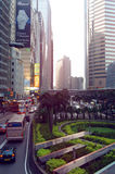 Connaught Road Central Of Hong Kong at sundown Stock Image
