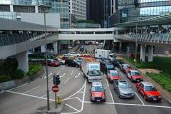 Connaught ställe, Hong Kong Island Royaltyfria Bilder