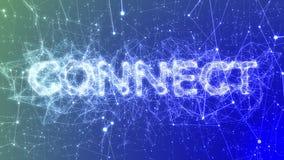 Connect in Blue - Buzzword Concept Animation, Plexus Network