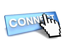 Connect button Stock Photos