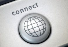 Connect button Stock Photo