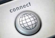 Connect button. Closeup of button Stock Photo