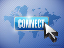 Connect button and cursor illustration Royalty Free Stock Images