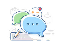Connect and chat chatting Royalty Free Stock Images
