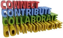 Connect colabora comunica contribuye Fotografía de archivo libre de regalías