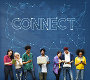Connect Communication Link Network Sharing Concept Royalty Free Stock Photography